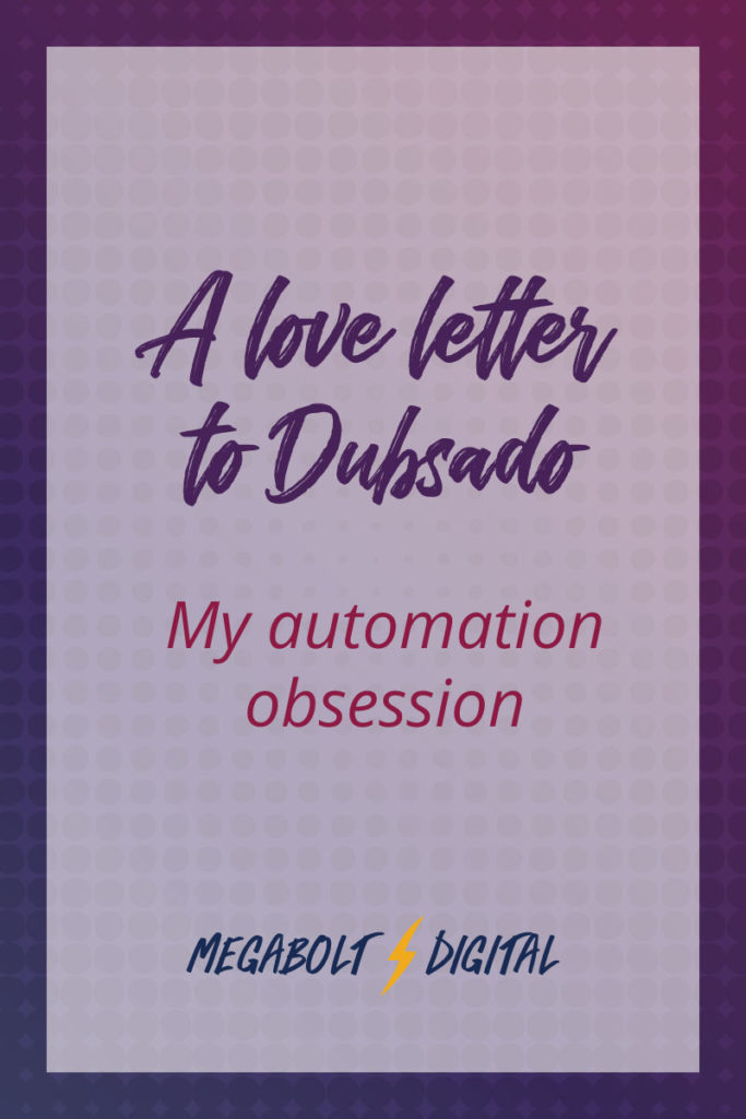 Thank you, Dubsado, for giving me back much needed time to work on working with existing clients &expanding my network, instead of getting bogged down in the administrative minutiae of contracts & proposals.
