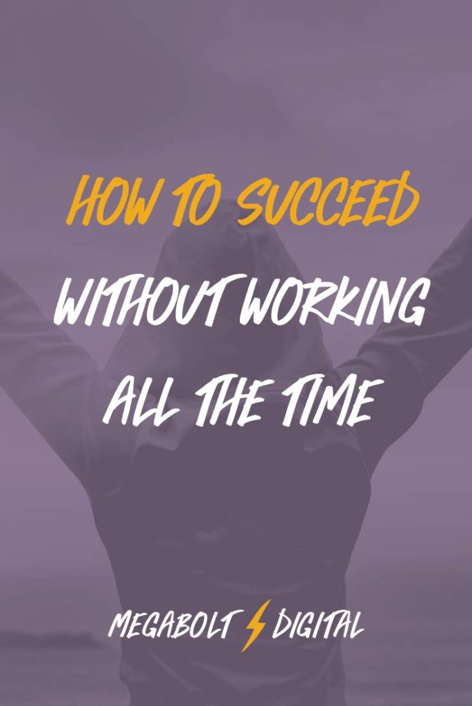 If you don't want to work all the time (and who does, really?), you don't have to. The key is to set up boundaries& systems to best use the time you have.