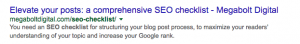 Make sure that all the parts of your Google SERP listing are optimized too!