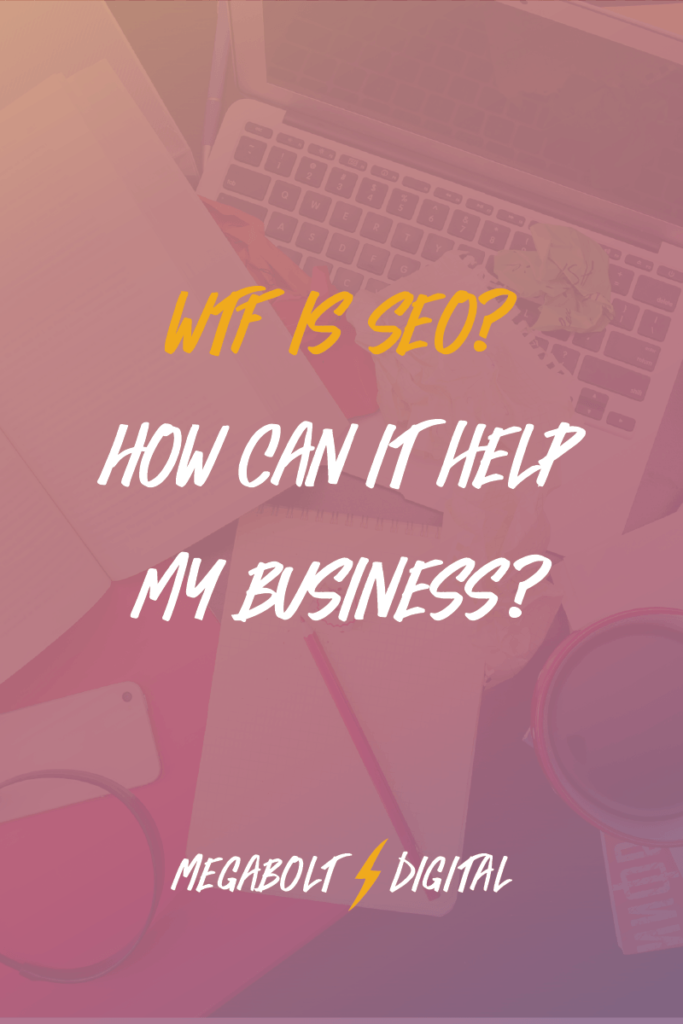 "If you're wondering, ""WTF is SEO? And how can it help my business?"" I'll break it down for you in normal language, using GIFs instead of jargon."