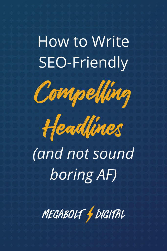 What if I were to tell you that you don't have to choose between being creative and SEO-friendly? Here's how to write headlines that are compelling AND useful.