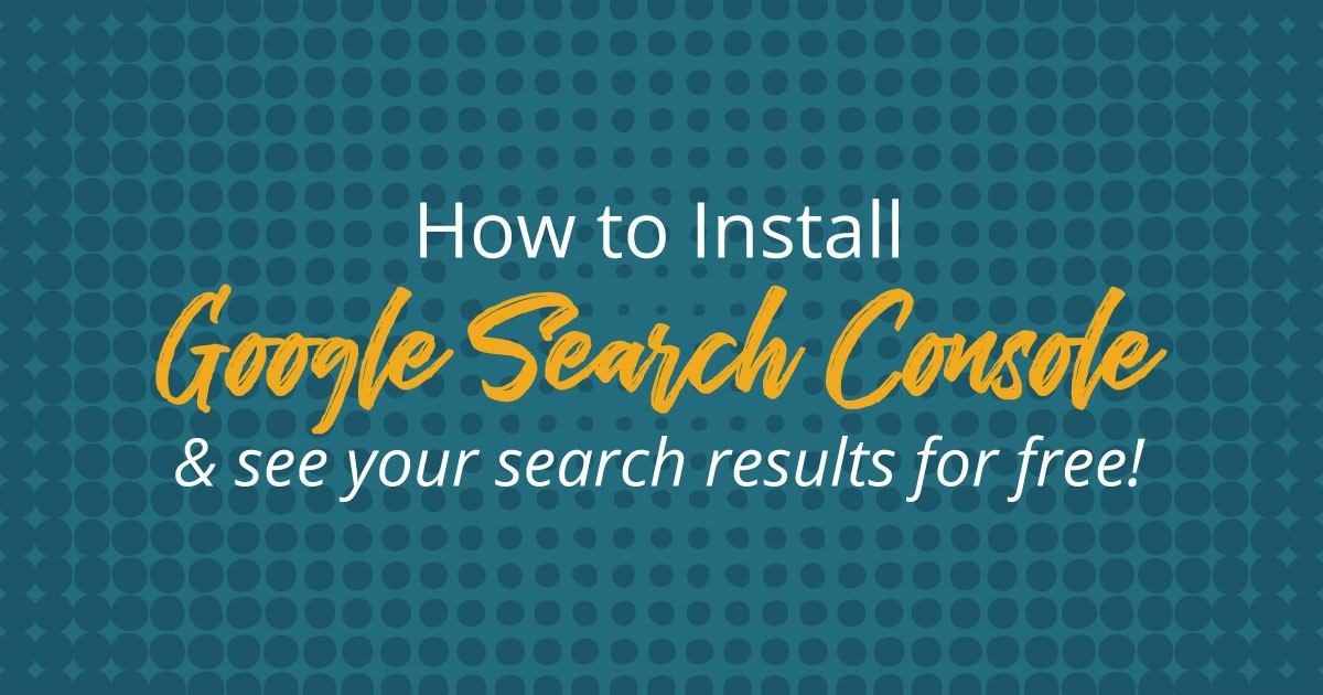 So whether people are telling you that they're finding you on Google or you just see your organic search traffic start to rise, there's a good (and free!) place to discover what search terms they're looking for when your name pops up: Google Search Console.