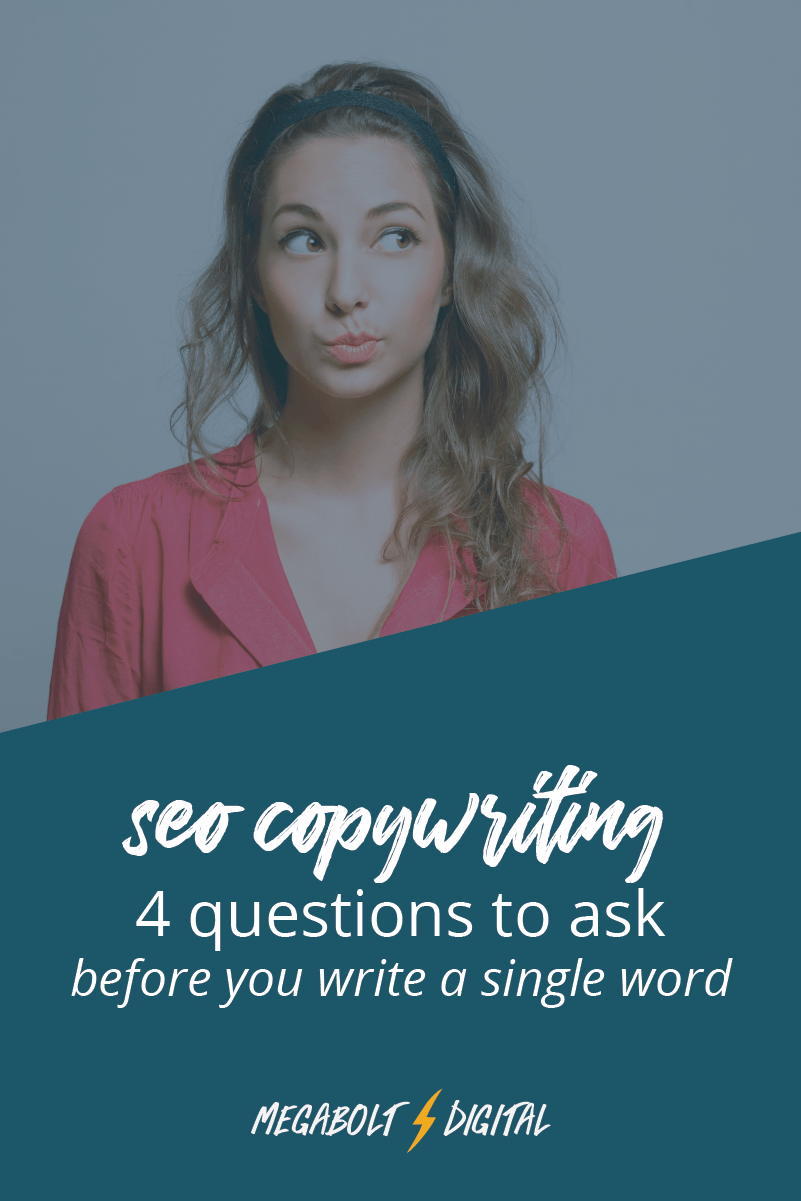 Before you write your next blog post, ask yourself these 4 SEO Copywriting questions to help your content get found on Google & turn your new readers into loyal customers.
