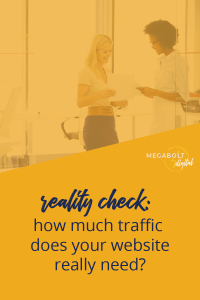 Most service-based businesses don't need to do all the marketing to be successful. In fact, trying to get a ton of traffic can be a big distraction. #truthbomb