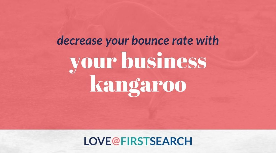 Decrease Your Bounce Rate with Your Business Kangaroo