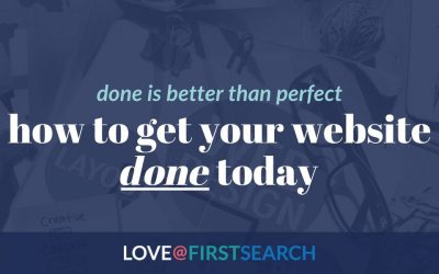 How to get your website design DONE (so it can start promoting YOU)