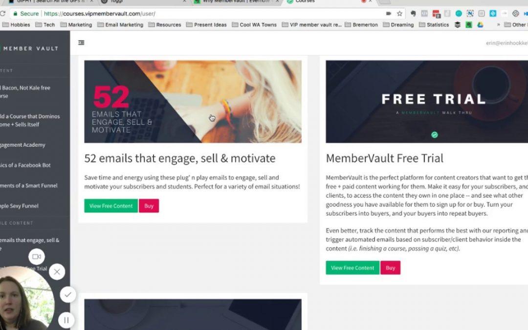 Online courses: MemberVault