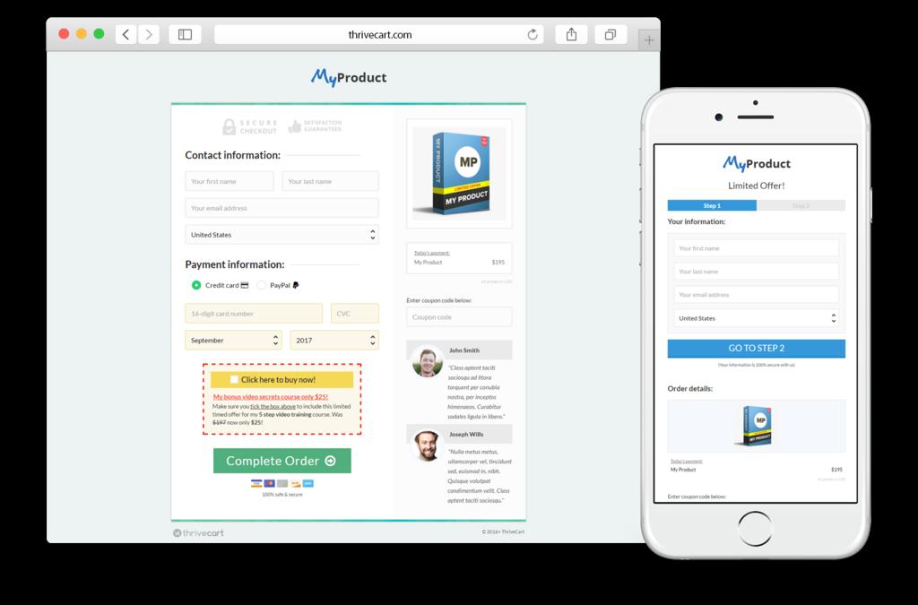 Payment processor & affiliate center: ThriveCart