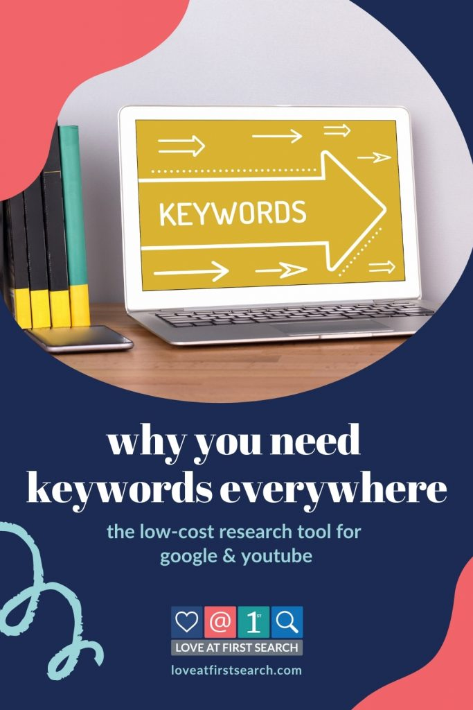 This tutorial shares how to install & use the Keywords Everywhere tool to find and evaluate keywords to use for your blogs, podcasts & YouTube content.