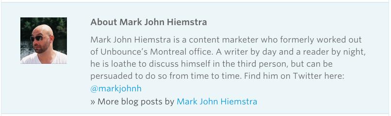 screenshot of guest post author bio