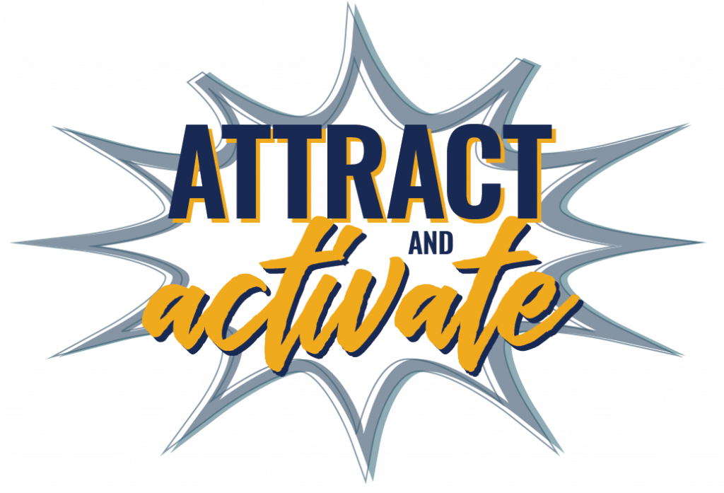 attract and activate logo